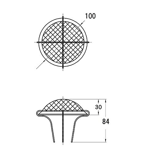 『SANEI 排水部品 差込排水ガード ズレ防止 クラゲ目皿 直径100mm H951-100』の3枚目の画像