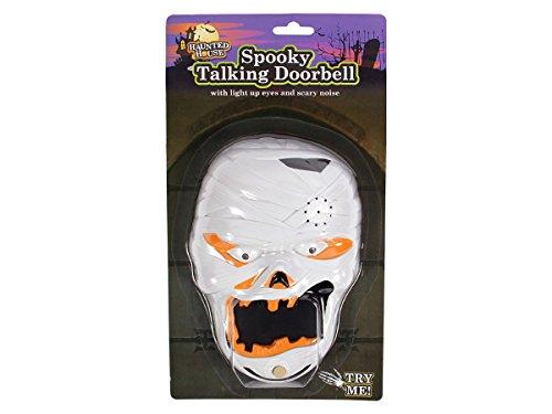 Halloween Klingel Kürbis Türklingel Sound mit Gruseleffekt Vampir Zombie Hexe mit leuchtenden Augen von Alsino,P976047 Mumie