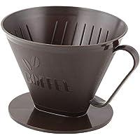 Fackelmann 42272filtro de café recipiente 10,5x 15cm para tamaño de filtro 4PP, marrón