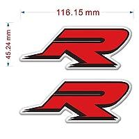 zhangenlian- BMW S1000R S1000RR S1000XRのオートバイサイドパネル保護具のフェアリングエンブレムタンクパッド保護 (Color : R)