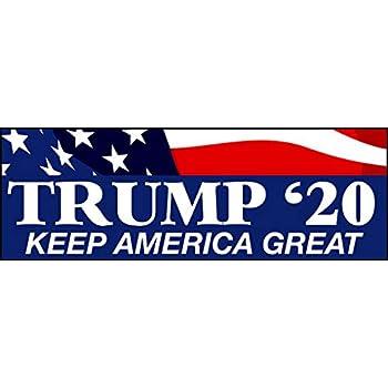 "Donald Trump Bumper Sticker 3x9/"" 2020 President USA Make America Great money art"