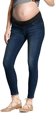 Super Comfy Stretch Women s Skinny Maternity Jeans PM5486S Medium BLU L product image