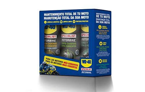 WD-40 34553 Total de Moto en Ambiente Húmedo Specialist Motorbike Spray, 400mL, Caja de 3