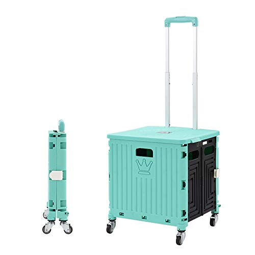 QiHaoHeji Chariot de Jardin Camping Chariot Portable Escalier escalier Portable Chariot de Pique-Nique (Couleur : Vert, Size : One Szie)
