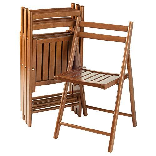 Winsome Robin 4-PC Folding Set Teak Chair