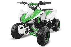 "Kinderquad Speedy 125cc RG7 7"" Automatik+Rückwärtsgang Quad ATV Bike Midi Buddy Pocket Kinder (Weiss-Grün)"