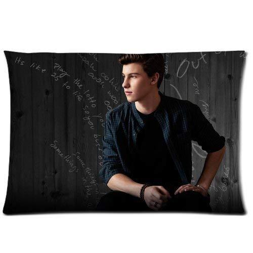Custom Shawn Mendes Home Decorative Soft Throw Pillowcase Cushion Custom Pillow Case Cover Protecter with Zipper Printed (50cmx75cm)
