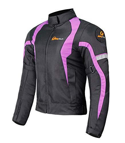 XuBa - Chaqueta y pantalones protectores de motociclismo para mujer, mantienen...