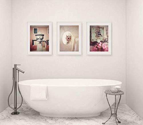Amazon Com Bathroom Decor Set Of 3 Photographs Bathroom Art Set Wall Art Faucet Rustic Bathroom Decor Vintage Shabby Chic Bathroom Art Bath Decor Handmade