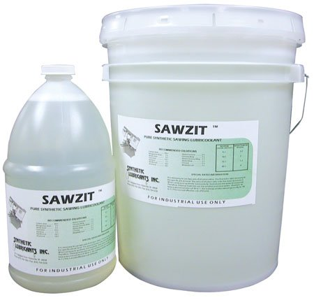 Sawzit, 5-Gallon Pail, Transparent Pure Synthetic Sawing Lubricoolant for Metalworking – Machining & Finishing