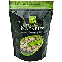 Pistachos Nazaríes - Pistachos Españoles de gran calidad, cuidadosamente seleccionados y tostados, crujientes y en su punto de sal. (Pack de 4 bolsas de 250gr cada una)