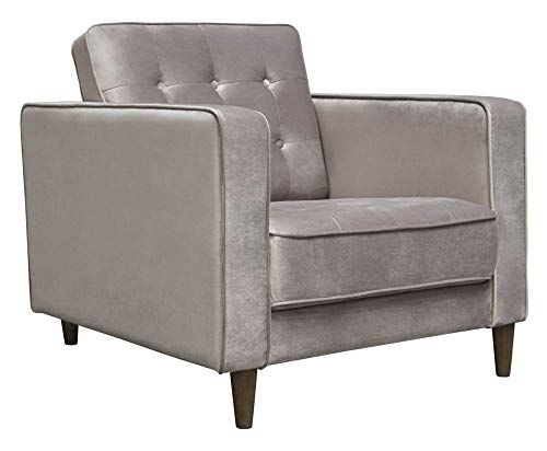 Diamond Sofa Tufted Chair in Champagne Gray