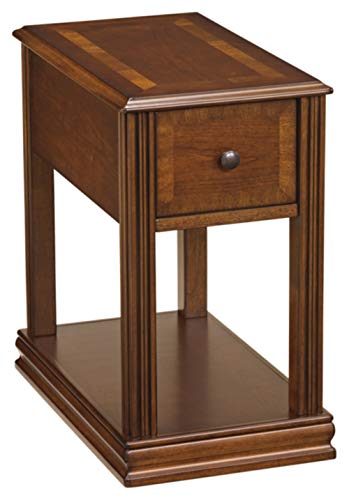 Big Sale Signature Design by Ashley Contemporary Chair Side End Table Brown Finish