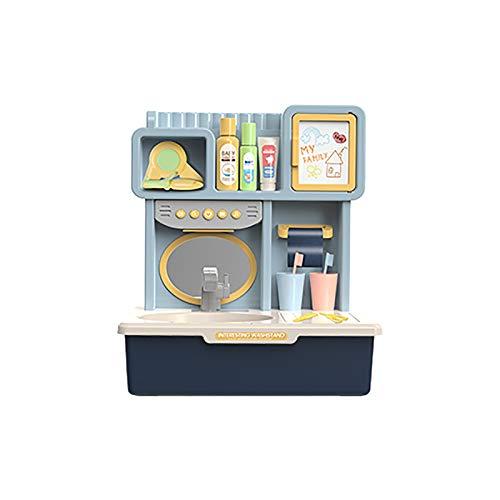 Hunpta @ Kinder Rollenspiele Spielzeug Set Elektrische Waschtisch Wasserhahn mit Licht, Musik und Tierischer Soundeffekt Automatisches Wasserkreislaufsystem Lernspielzeug Partyspiele