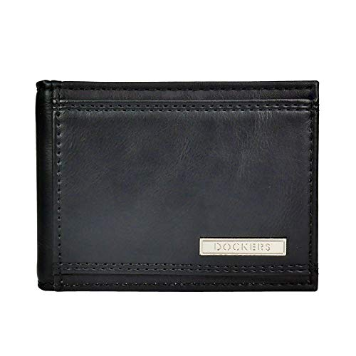 Dockers mensRfid Blocking Slim Magnetic Front Pocket Wallet - Nero - Taglia unica