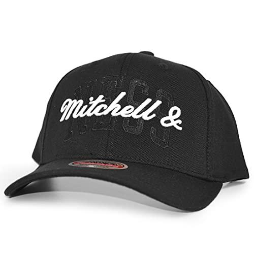 Mitchell & Ness Logo Branded Stacked Snapback Black