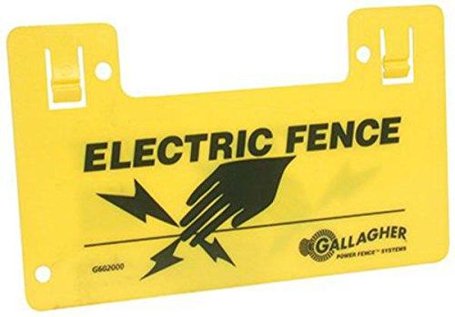 Preisvergleich Produktbild 9.5x5.5 HiVis Warn Sign by Gallagher North America