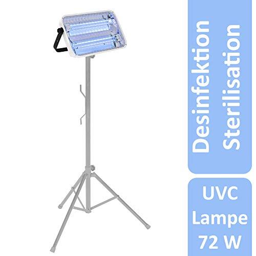 LENA UVC Lampe zur Desinfektion Sterilisation   72 Watt Teleskop-Ständer   Disinfection Light Lamp   UV-C Desinfektionslampe gegen Viren Bakterien und Mikroorganismen   keimtötende UVC-Lampe (72)