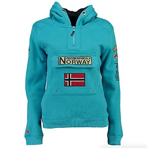 Geographical Norway Sudadera DE Hombre GYMCLASS Turquesa L