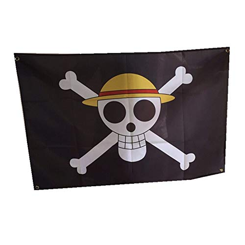 OYSTERBOY 23.5'x35.5' One Piece Luffy's Straw Hat Pirate Flag Jolly Roger Pirate Banner