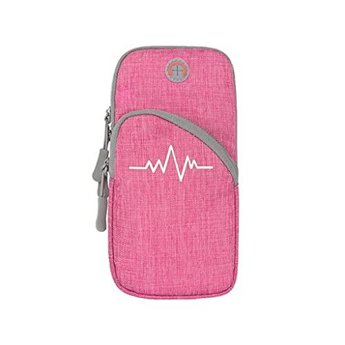 Diaod Bolsa de Brazalete de Deporte Impermeable Universal Que Corre Jogging Gimnasio Brazo Bandas de teléfono móvil Titular de la Cubierta de la Caja (Color : Pink)