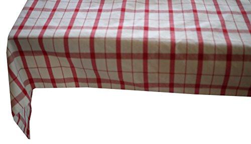 Linder à Carreaux, Polyester, Rouge, 145x200 cm
