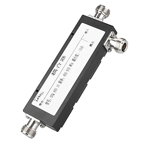 Weikeya Fácil a Usar 10dB Acoplador, Negro Energía Cable Norte-F ≤ 1.3db 400-900mhz Metal