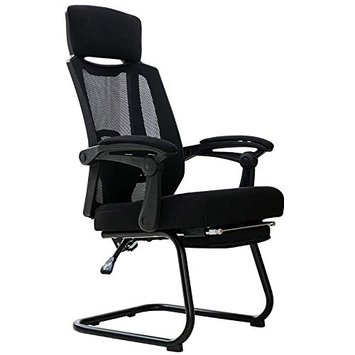 Bedrooms Executive Office Chair Adjustable lumbar support Footrest support High back mesh computer desk and chair 90°-150° tilt mechanism Steel base Bearing weight 130kg (Color : White)