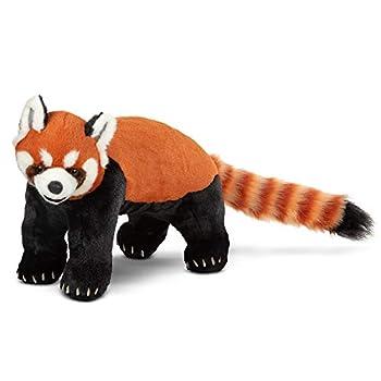 Melissa & Doug Lifelike Plush Red Panda Standing Stuffed Animal  2.5 Feet Long