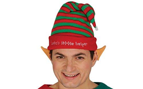Cappello elfo a strisce aiutante babbo natale