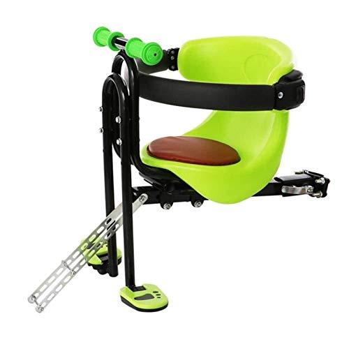 Asiento De Bicicleta Para Niños, Asiento De Bicicleta Para Niños, Asiento Delantero De Bicicleta Con Absorción De Impactos, Para Niños De 2 A 6 Años, Peso Máximo Del Bebé 50 Kg ( Color : Green )