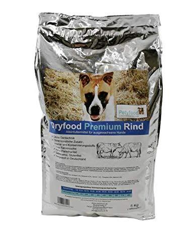 Petyfood Dryfood Premium Rind Trockenfutter für Hunde - Hundefutter trocken Getreidefrei 5Kg