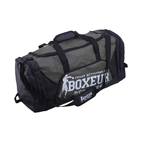 BOXEUR DES RUES Serie Fight Activewear, Borsa Impermeabile per La Palestra Unisex Adulto, Verde Militare, Taglia Unica