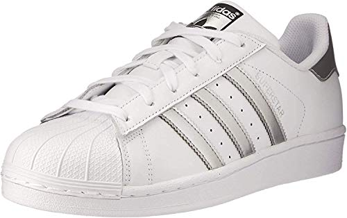 adidas Originals Superstar, Unisex Adults Low-Top, Multicolor (Ftwwht/Silvmt/Cblack), 3.5 UK (36 EU)