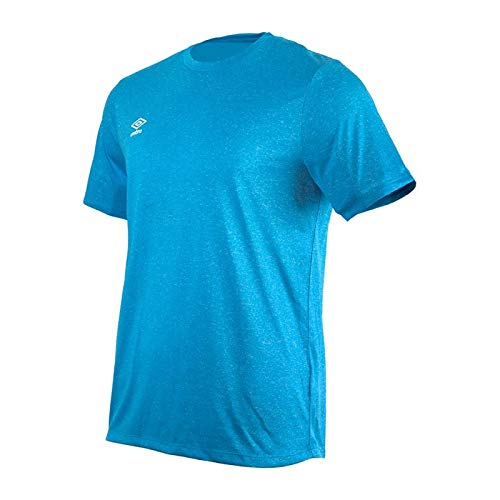 UMBRO Fw Marl Crew Training Jersey Small Logo Camiseta, Hombre, Azul Ibiza,...