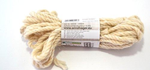 Cordelette laine mouton 10m naturel