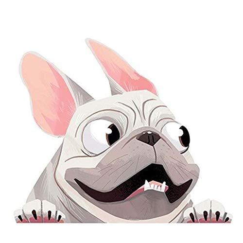 EARLFAMILY 5.1'' Car Sticker for Fawn French Bulldog Graphics Pet Dog Vinyl Decal Animal Cartoon Waterproof Bumper Decor