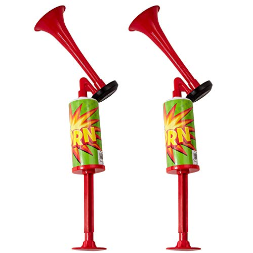 Learn More About Kicko Party Air Horns with Hand Pumps - 2 Pack - for Celebration Noisemaker, Cheerl...