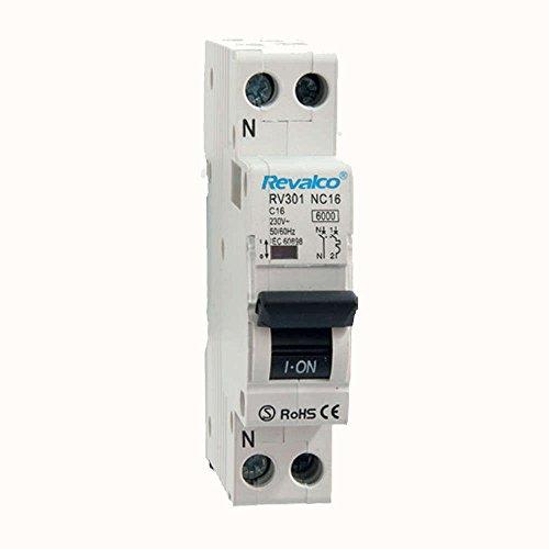 Interruptor automático Magnetotérmico DPN Revalco 1P+N 6A 6kA