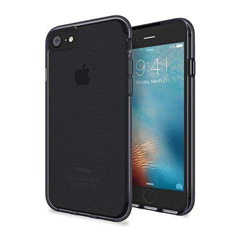 Skech Matrix Schutzhülle für Apple iPhone SE (2020) / 8 / 7 / 6S / 6 in transparent/grau [Ultra robust, 2m Sturzfest, Waben-Struktur, Erhöhte Displaykante, Schockabsorbierend] - SK28-MTX-SGRY