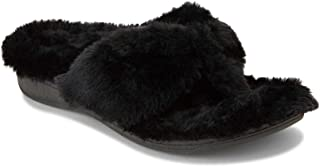 Vionic Women's Indulge Gracie Toe-Post Plush Slipper - Toe-Post Slippers with Concealed Orthotic Arch Support