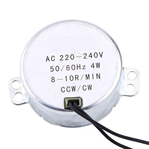 Motor síncrono, 1 Uds 220-240V AC Motorreductor, 4W CW CCW Motor eléctrico para mecanismo de ventilación de ventilador eléctrico, calentador(8-10RPM)