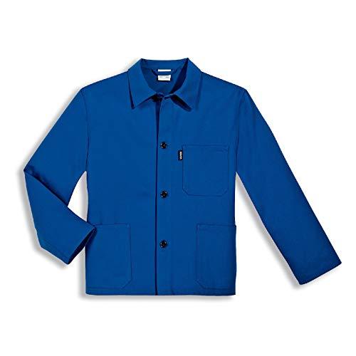 Uvex 125 Herren-Arbeitsjacke - Blaue Männer-Bundjacke - 100% Baumwolle - Gerader Armabschluss 56