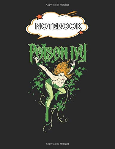 Notebook: Batman Poison Ivy Blank Comic Notebook for Kids Marble Size Blank Journal Composition Blank Pages Rule College Rule Lined for Student ... of 8.5'x11' for Drawing Sketching Doodling