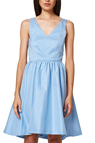 ESPRIT Collection Damen 048EO1E016 Kleid, Blau (Blue 430), 44