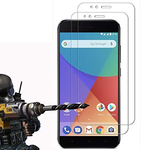 2 Pack - Xiaomi Mi A1 / Xiaomi Mi 5X Protector de Pantalla, FoneExpert Ultra Tanque Transparente Cristal 9H Cristal Templado Glass...