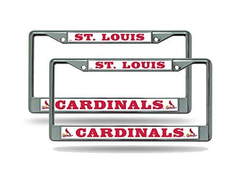 Rico St Louis Cardinals MLB (Set of 2) Chrome Metal License Plate Frames