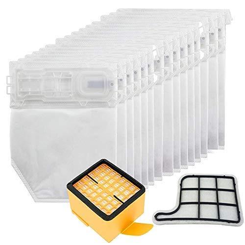 QIBIN Juego de bolsas y filtros de microfibra para aspiradoras Vorwerk Kobold VK135 VK136