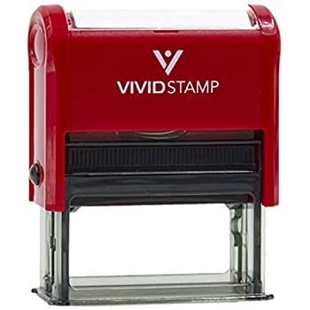 Approved Oval Office Self-Inking Office Rubber Stamp  Red  - M