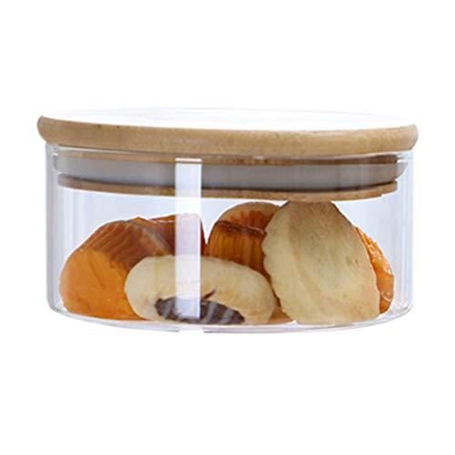 CROSYO 1 unids Vidrio boticario Tarro de Cocina Caramelo Cookie Almacenamiento contenedores Comida Botellas Botellas envase frascos con Tapa - Transparente